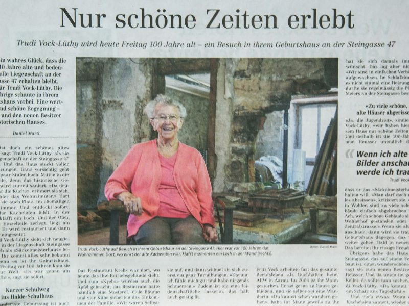 Frau Vock-Lüthy berichtet