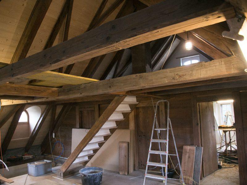 Treppe ins 2. Dachgeschoss